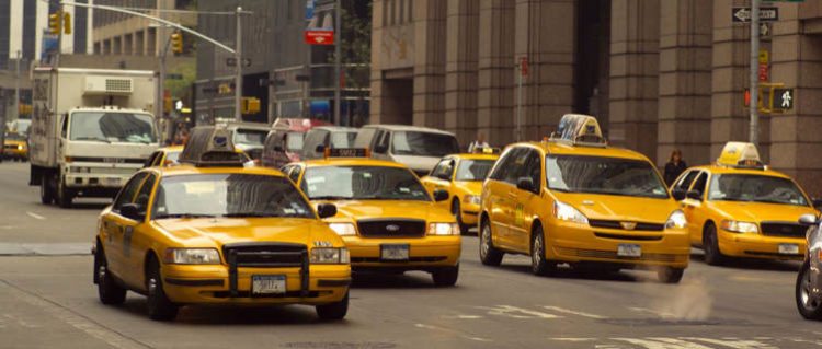 Famous yellow taxis of New York City