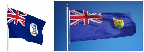 Cayman Islands Flag and Map