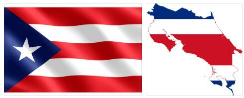 Puerto Rico Flag and Map