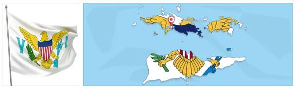 U.S. Virgin Islands Flag and Map
