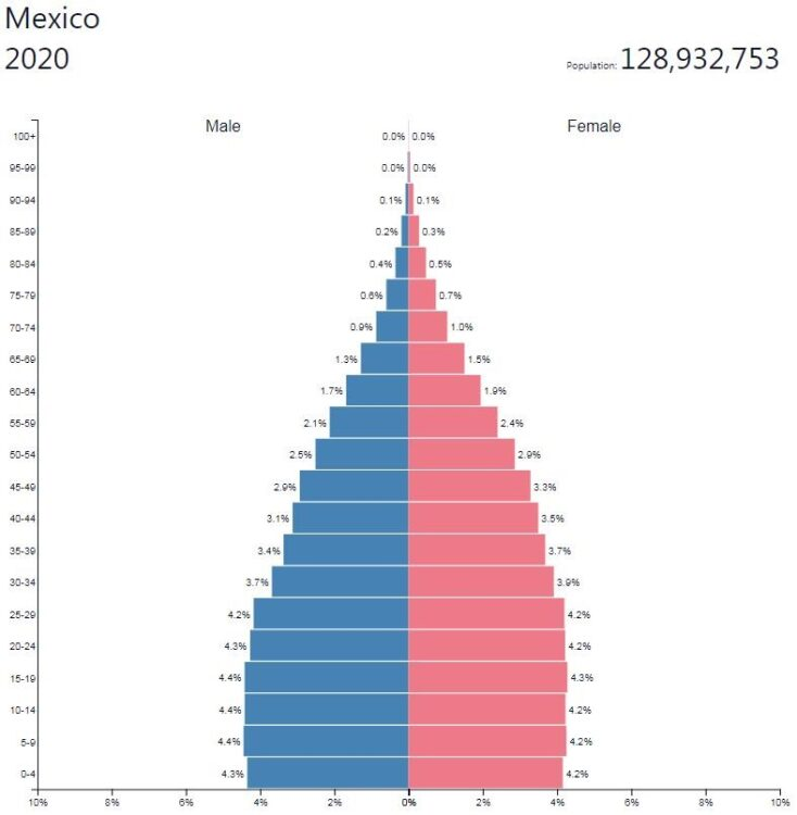 Mexico Population Pyramid