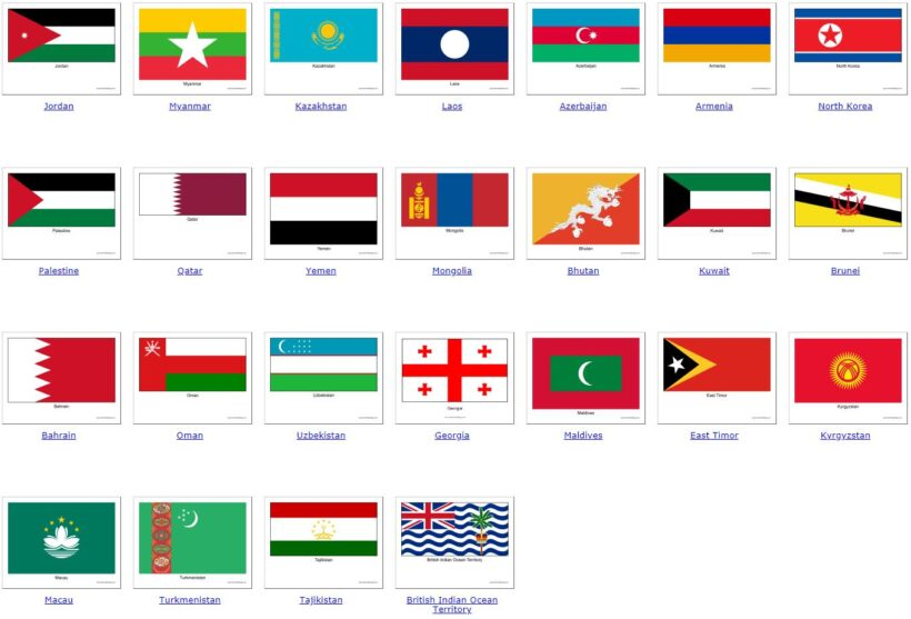 all Asian countries 2