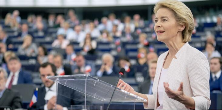 Ursula von der Leyen in the European Parliament