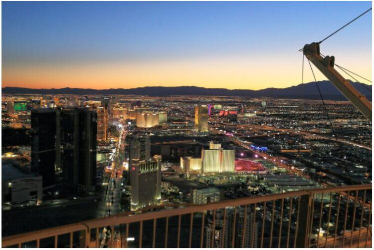 The view from The Stratosphere Tower