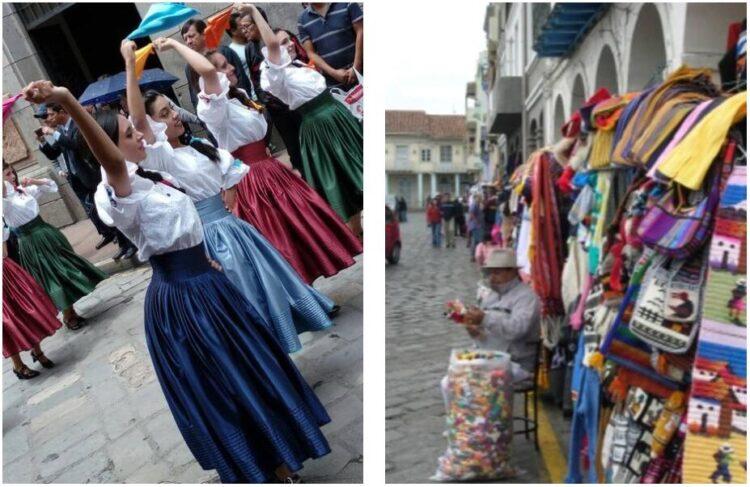 Folklore and handicrafts in Cuenca Ecuador