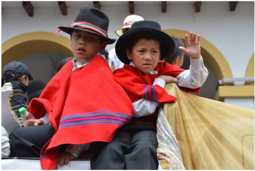 Pase del Niño Christmas procession in Cuenca, Ecuador