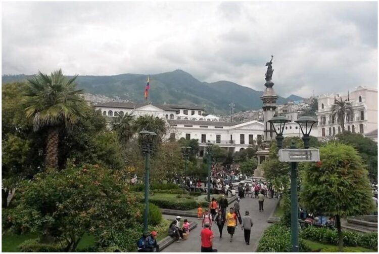 Plaza de la Independencia and Government Palace in Quito
