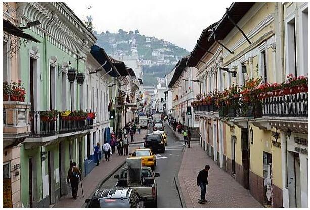The old town of Quit Ecuador